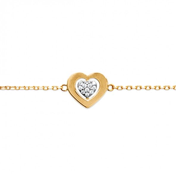 Bracelet extensible Coeur 16/18 cm