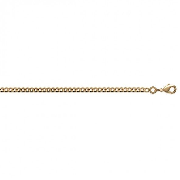 Gold Plated Gourmette mesh Chain 50 cm Lenght, 3 mm Width.