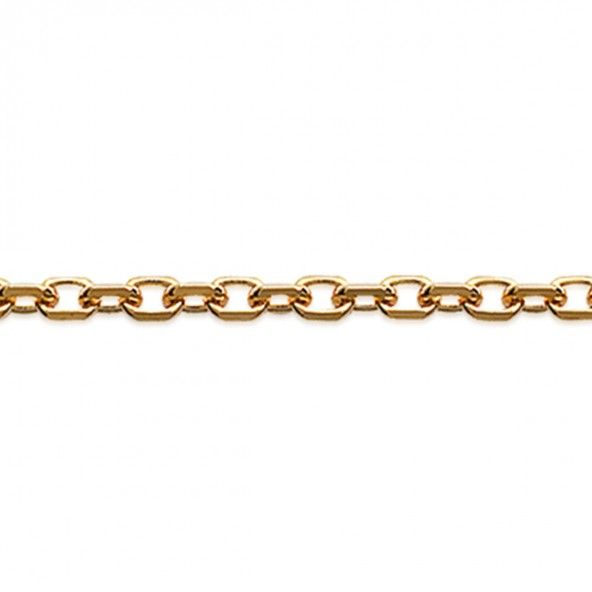 Gold Plated Forçat mesh Chain 50 cm Lenght, 1 mm Width.
