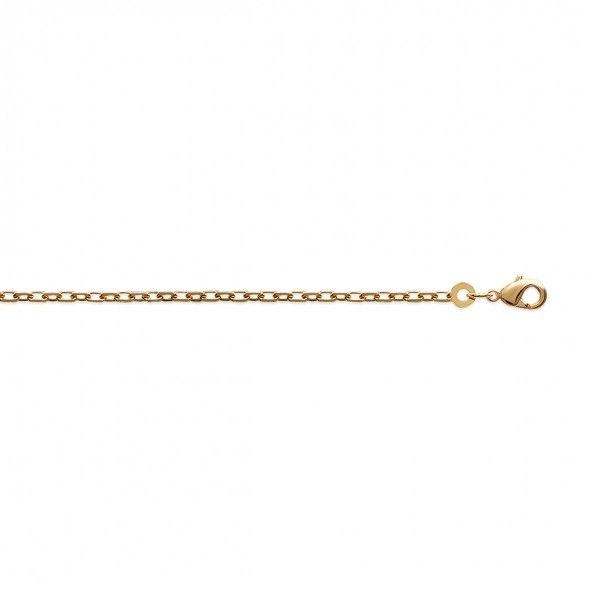 Gold Plated Forçat mesh Chain 50 cm Lenght, 2mm Width.