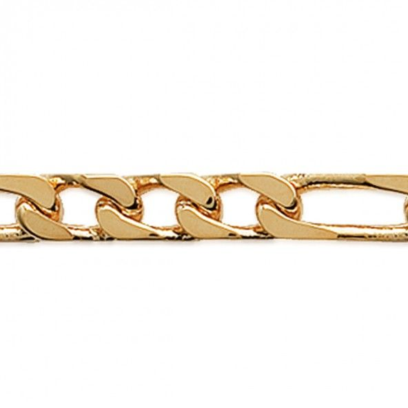 Gold Plated 3+1 mesh Chain 50 cm Lenght, 3 mm Width.