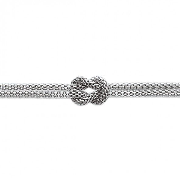 Steel chain with a knot and two loose ends 40cm / 45cm.