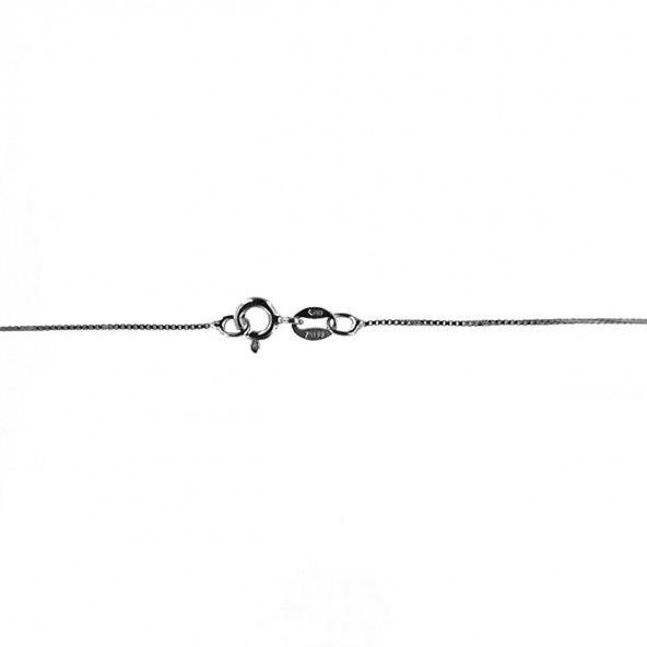 Chaîne en maille fantaisie argent 925/1000, longueur 40 cm, largeur 1 mm.