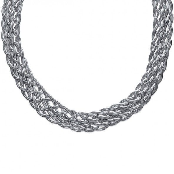 Steel Chain in braid with 16mm wide and 40cm / 45cm.
