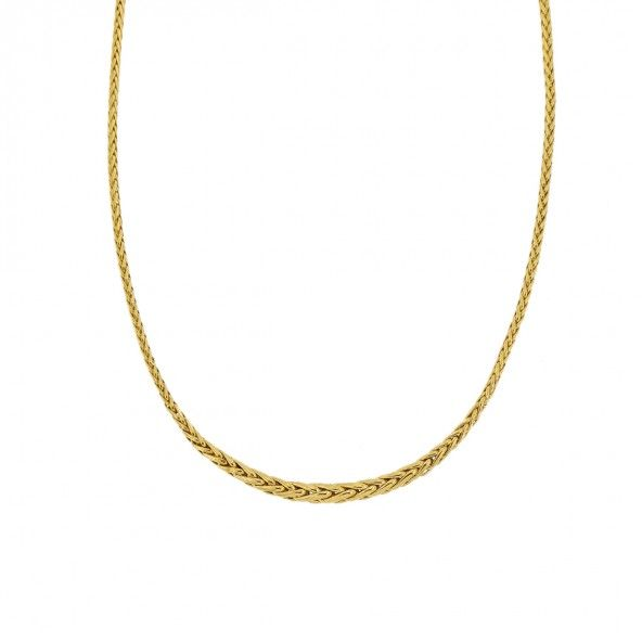 Collier Chute maille Palmier Or 750/1000 42CM
