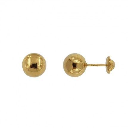Boucles d'oreilles en or 750/1000 avec une boule de 7mm.