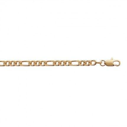 Pulseira Plaqueado a Ouro Malha 1+1 4mm, 21cm.