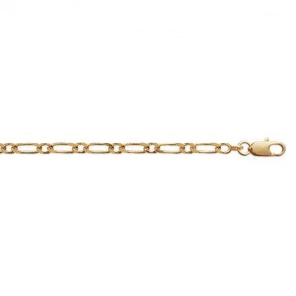 Pulseira Plaqueado a Ouro Malha 3+1 3mm, 21cm.