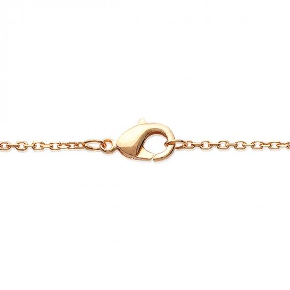 Gold Plated Chain 40cm/42cm/45cm Heart with Zirconia 13mm.