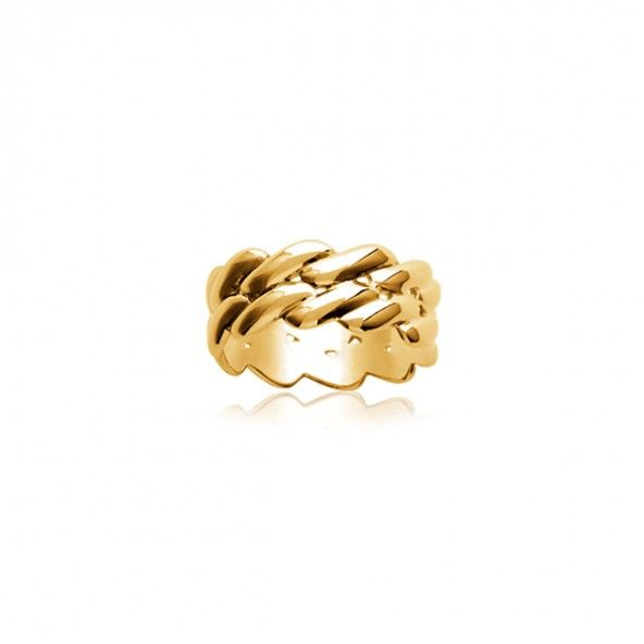 Gold Plated Ring Braid shape 8mm.