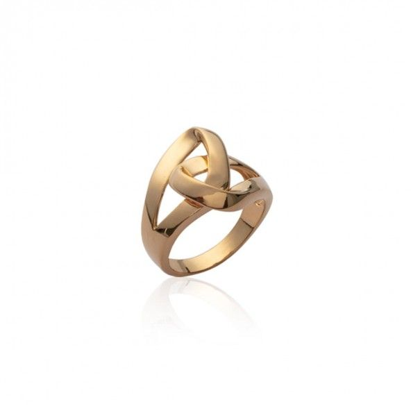 Gold Plated Ring knot shape 20mm.