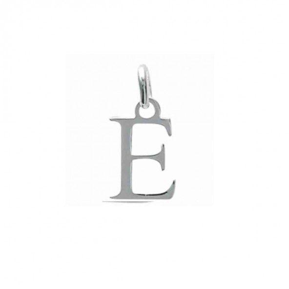 Pendente letra E inicial nome em Prata 925/1000
