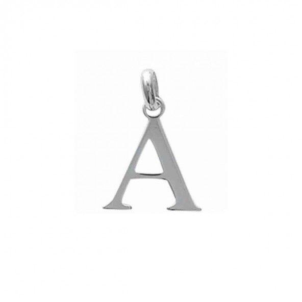 Pendentif lettre A initiale prénom en Argent 925/1000