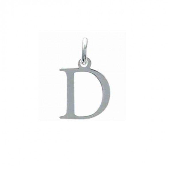 Pendentif lettre D initiale prénom en Argent 925/1000