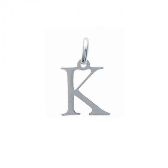 Pendentif lettre K initiale prénom en Argent 925/1000