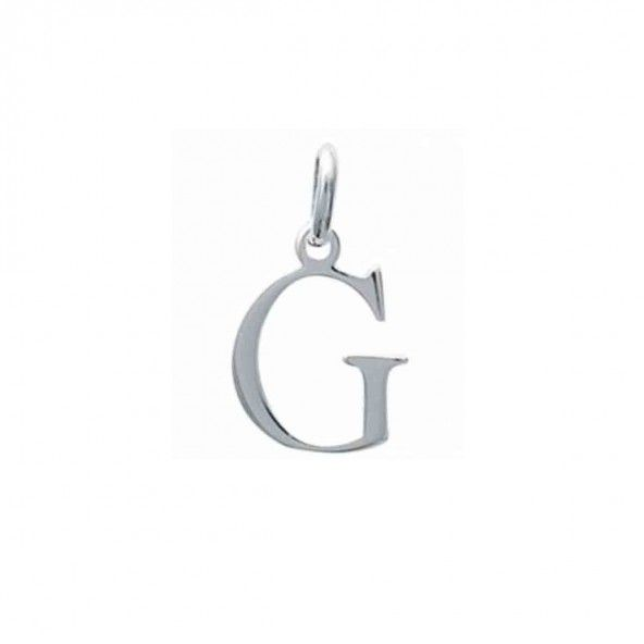 Pendente letra G inicial nome em Prata 925/1000