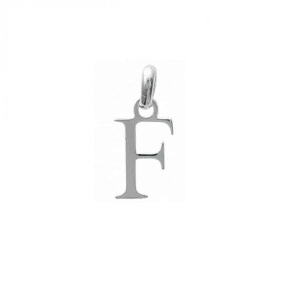 Pendente letra F inicial nome em Prata 925/1000