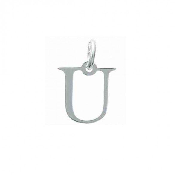 Pendentif lettre U initiale prénom en Argent 925/1000