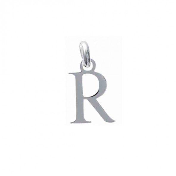 Pendentif lettre R initiale prénom en Argent 925/1000