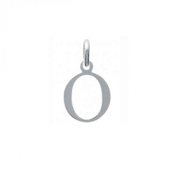 Pendant letter O initial name in Silver 925/1000