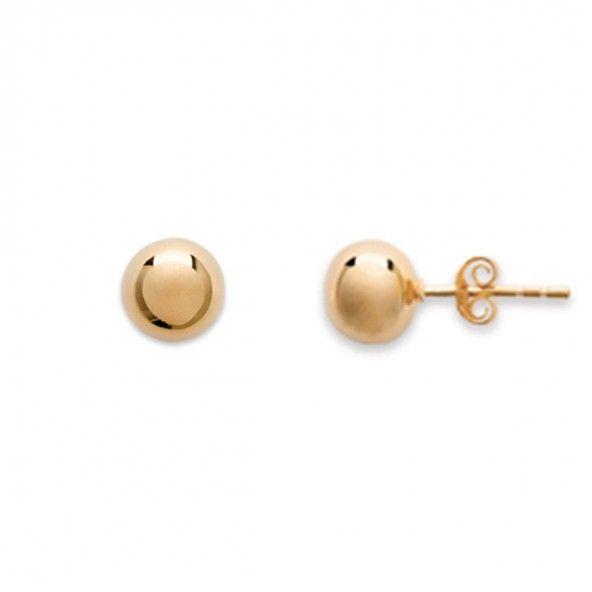 Boucles d'oreilles plaquées or boule de 8mm.