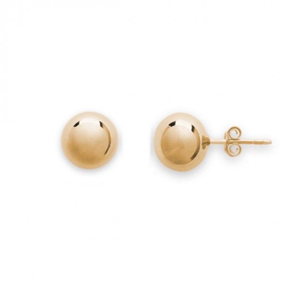 Gold Plated Earings Ball shape 10mm.
