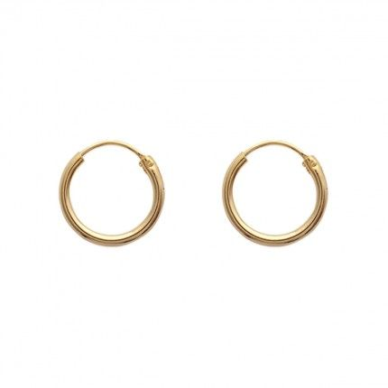 Gold Plated Hoops 16mm/2mm.
