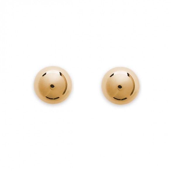Boucles d'oreilles plaquées or boule de 12mm.