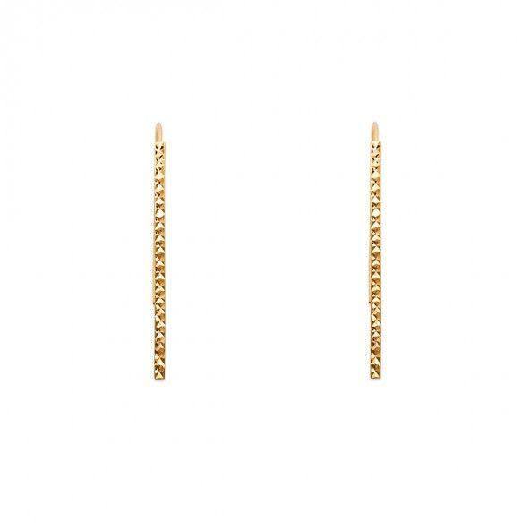 Gold Plated Earings hook shape 2mm/48mm.