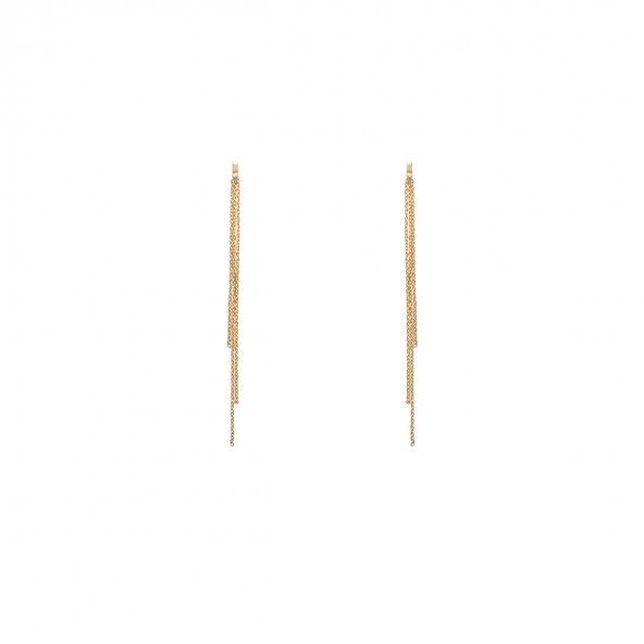 Boucles d'oreilles plaquées or 2 mm / 12 cm de long