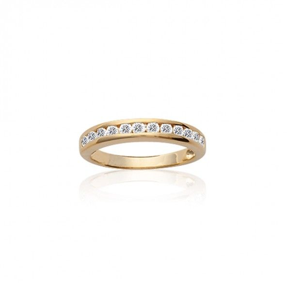 Gold Plated Ring with zirconia 4mm.