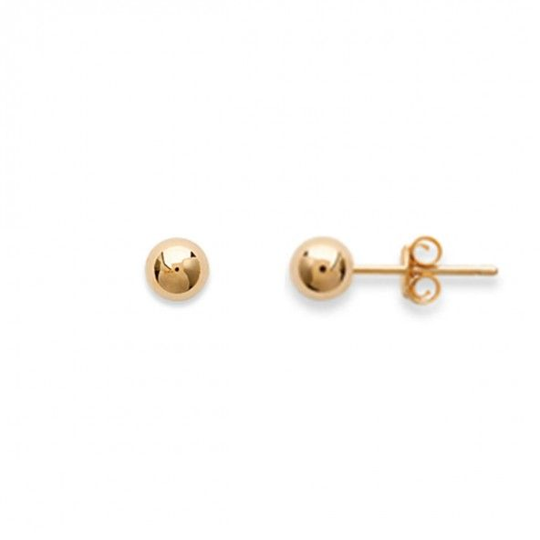 Gold Plated Earings Ball shape 5mm.