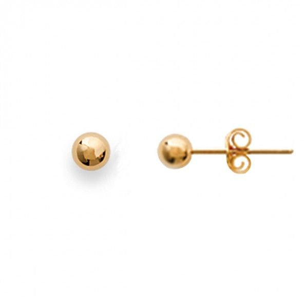 Gold Plated Earings Ball shape 4mm.