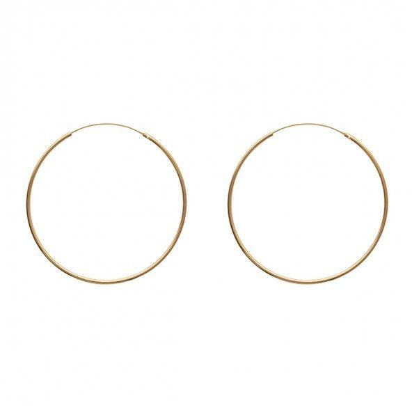 Argolas Plaqueado a Ouro 70mm/2mm.