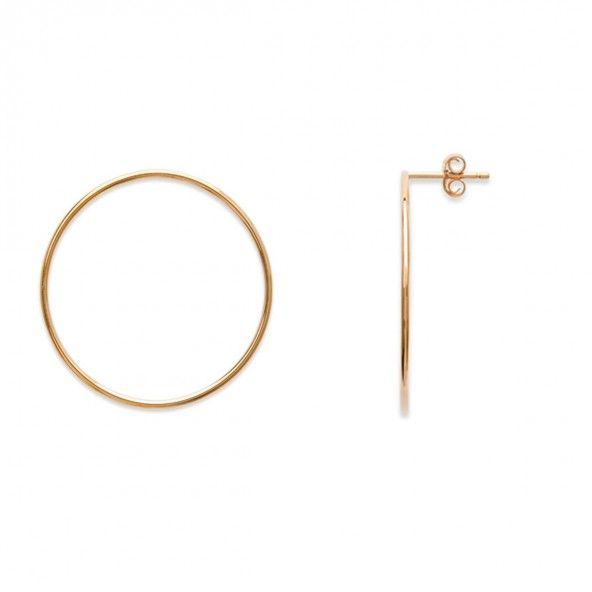 Gold Plated fixed hoop 30mm.