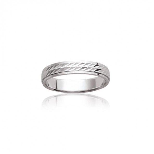 925/1000 Silver wedding ring 4mm.