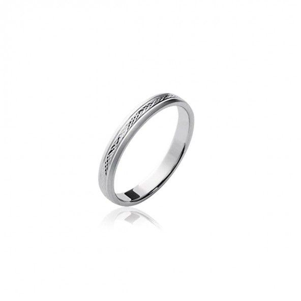 925/1000 Silver wedding ring 3mm.
