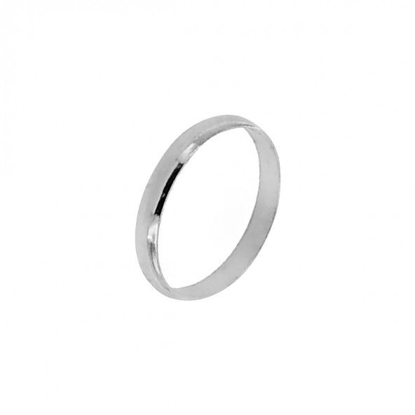 925/1000 Silver wedding ring plain 3mm.
