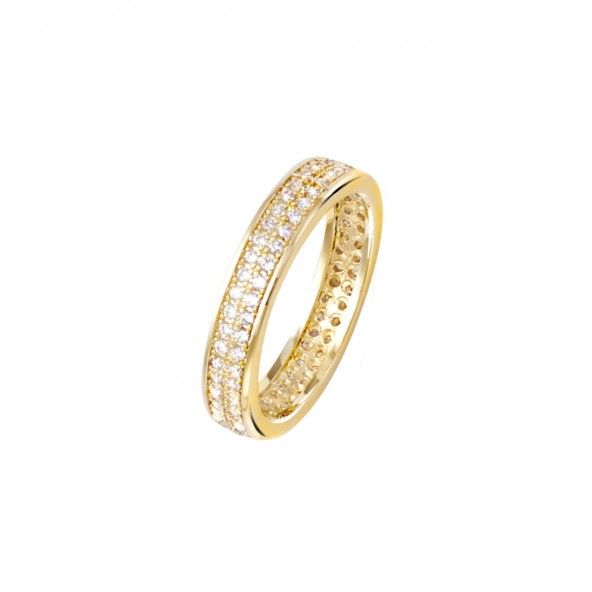 Gold Plated Ring with zirconia 5mm.