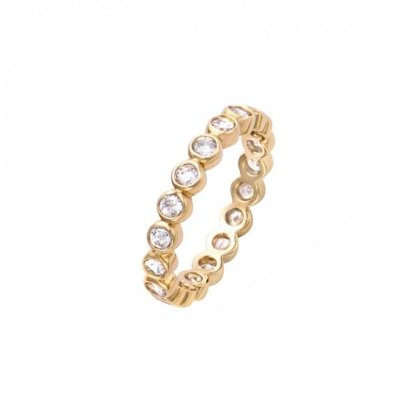 Gold Plated Ring with zirconia 3mm.