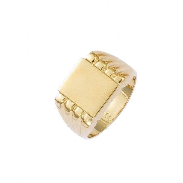 Gold Plated Man Ring square 11mm.