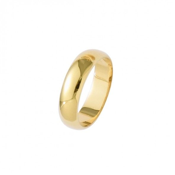 Gold Plated Wedding ring 5mm.
