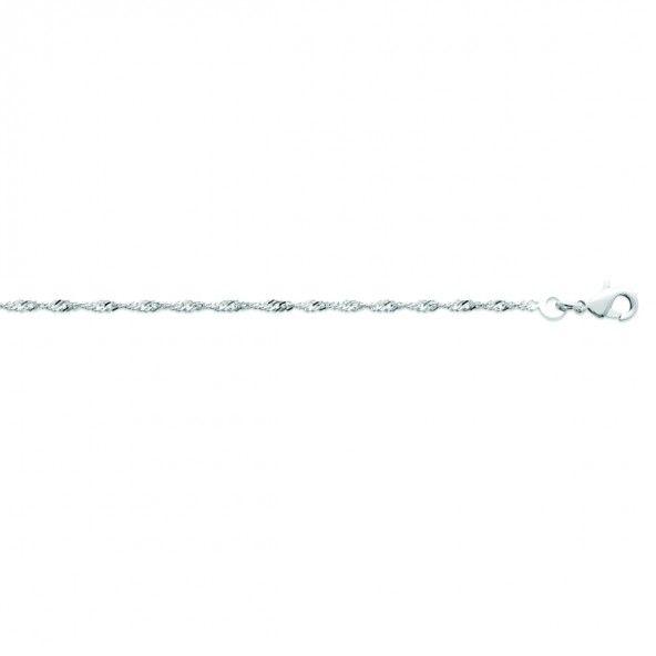 925/1000 Silver Singapore Mesh chain 45cm.