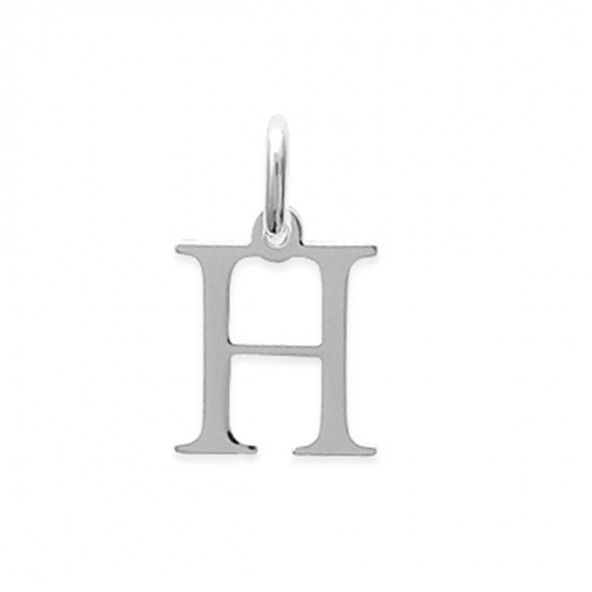 Pendant letter H initial name in Silver 925/1000