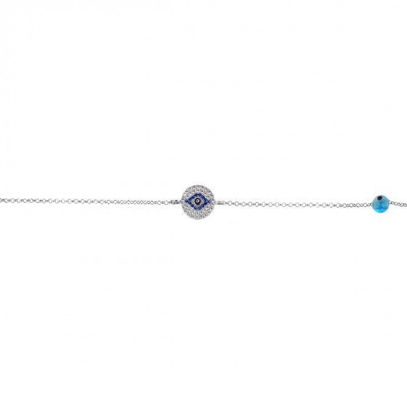 Bracelet Oeil Turc Argent 925/1000 17,50cm/2,50cm.