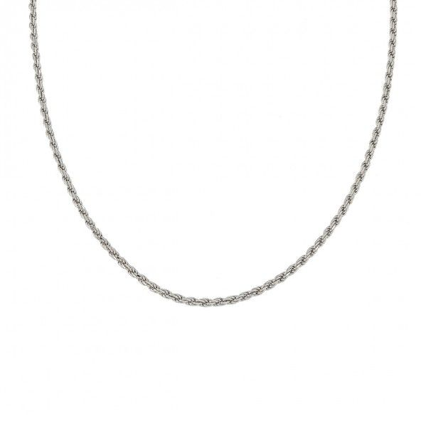 Colar Prata 925/1000 Corda 45cm