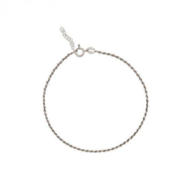 925/1000 Silver Ankle Bracelet 21,50cm+2,50cm.