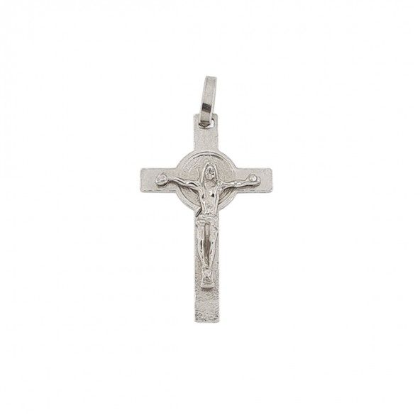925/1000 Silver Pendant with Christ 27mm.