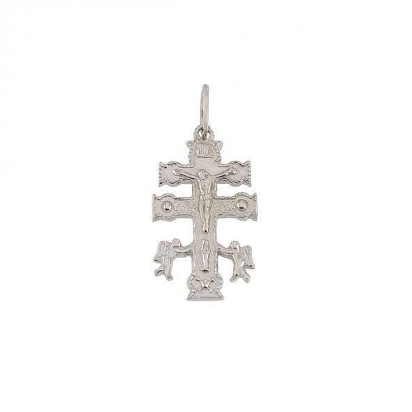 Pendentif croix de caravaca Argent 925/1000  21mm.