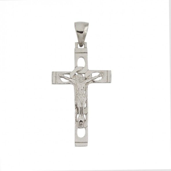 925/1000 Silver Pendant with Christ 42mm.